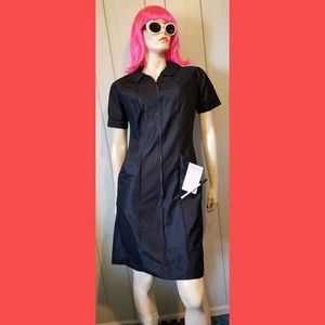 VTG MOD BLACK Rockabilly WAITRESS Dress Uniform